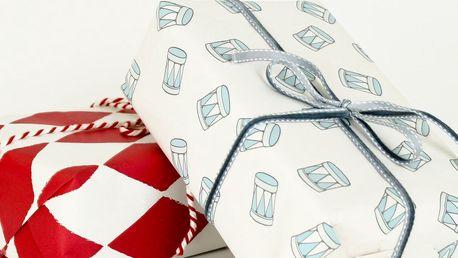Balící papír s bubínky Blue