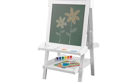 Bílý umělecký stojan s tabulí