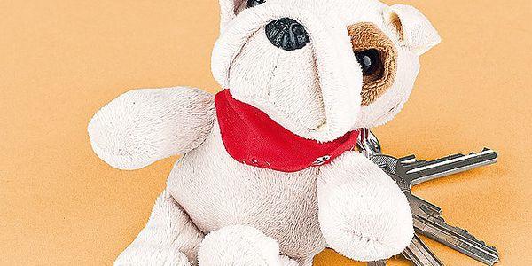 Záznamník pejsek - roztomilý pejsek, který slouží také jako přívěšek na klíče