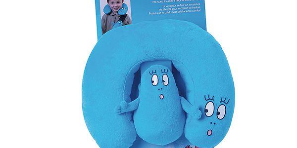 Sada návleku na pás a polštářku se postavičkami Barbapapa - modrá
