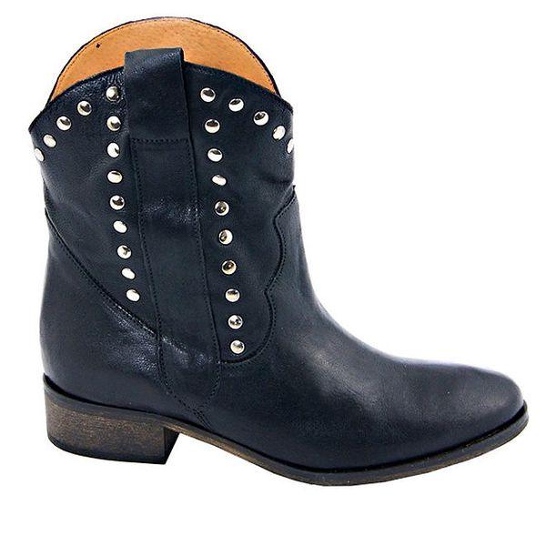 Dámské černé kovbojské boty s cvočky Eye