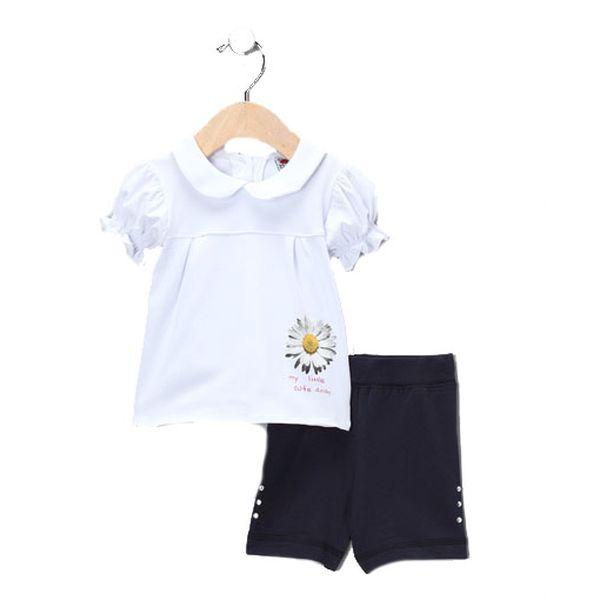 Set bílé tričko sedmikráska a kraťásky