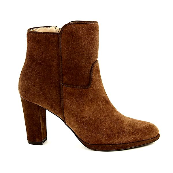 Dámské karamelově hnědé semišové boty na podpatku Eye
