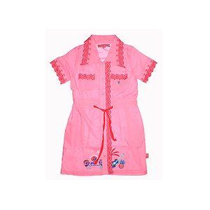 Krásné netradiční růžové polo šaty