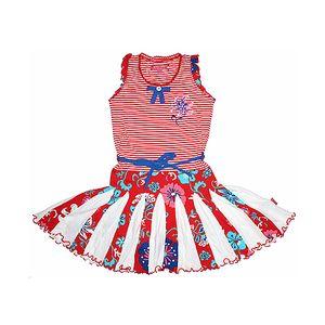 Vesele barevné šaty bez rukávů