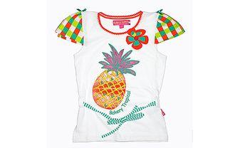 Bílé tričko s ananasem od The Dutch Design Bakery