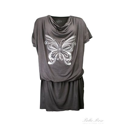 Tunika Butterfly grey