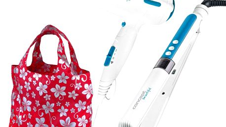 Sada vysoušeče vlasů a žehličky na vlasy Concept, dárek nákupní taška