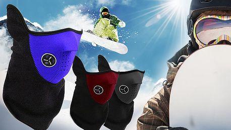 Vyzbrojte se do zimy! Hřejivá maska ve 3 barvách