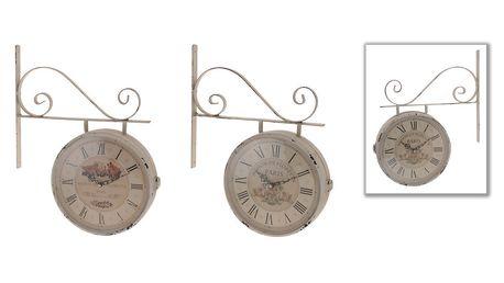 Oboustranné hodiny růže - romantický design