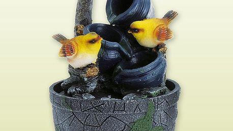 Dekorativní fontána s ptáčky