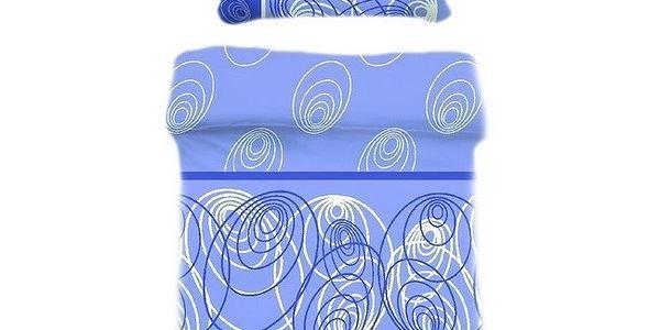 Přikrývka a polštář modrá 70x90, 140x200 B.E.S. Petrovice