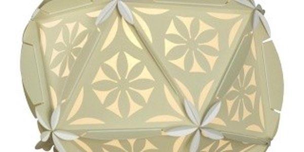 Stínidlo Juno Sybil Beige - geometrické tvary plné smyslnosti