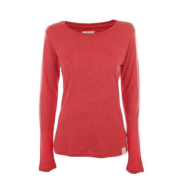 Dámské korálově červené tričko Big Star