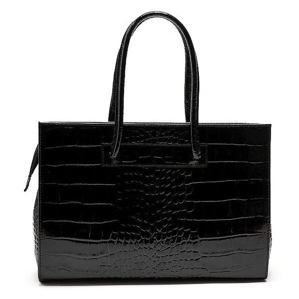 Dámská černá lesklá kabelka Carla Ferreri