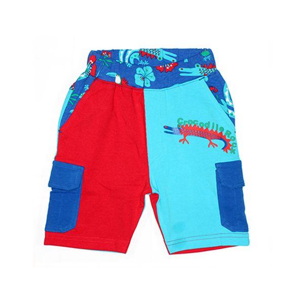 Stylové modro-červené kraťasy