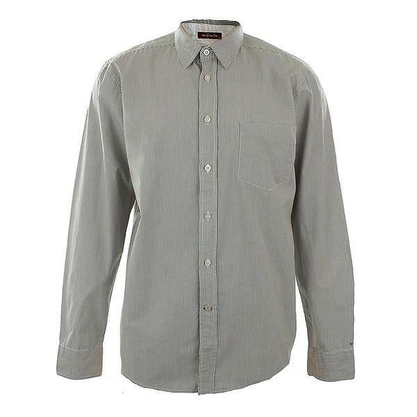 Pánská šedá košile s proužky Big Star