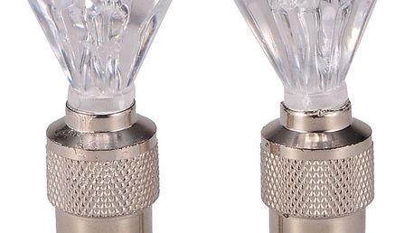 Svítící cepičky na ventilky - 2 kusy, diamant a poštovné ZDARMA! - 2707449