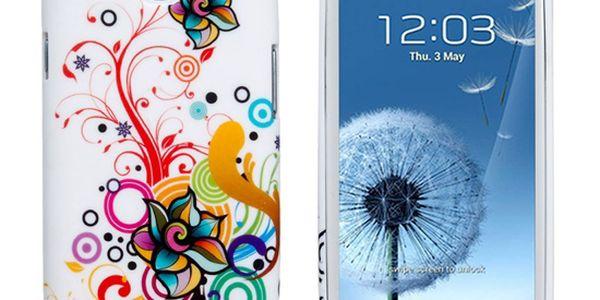 Zadní kryt s retro květinovým vzorem pro Samsung Galaxy S3/I9300 a poštovné ZDARMA! - 3007440