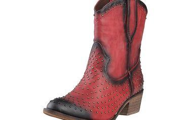 Dámské červené kovbojské boty s cvoky Ana Lublin
