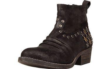 Dámské černé kotníkové boty s hvězdičkami Ana Lublin
