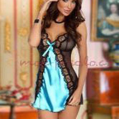 Dámská košilka Beauty Night Fashion Michele chemise tyrkys