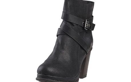 Dámské černé kotníčkové boty s přezkou Ana Lublin