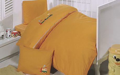 Povlečení Set 100x150cm Vláček Oranžový