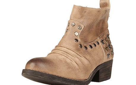 Dámské béžové kotníkové boty s hvězdičkami Ana Lublin