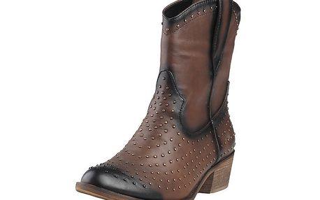 Dámské hnědé kovbojské boty s cvoky Ana Lublin