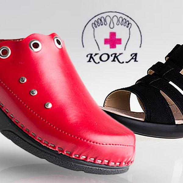Výprodej dámských zdravotních pantoflí Koka