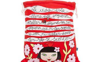 Krásný červený sáček pro mnohostranné využití
