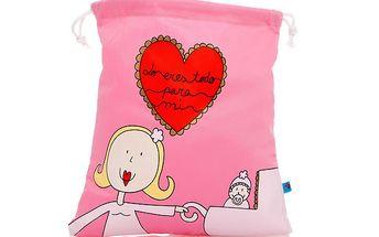 Roztomilý růžový sáček