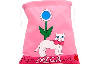 Růžový sáček s kočičkou