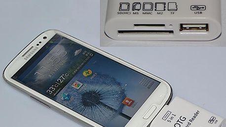 Čtečka paměťových karet s USB portem pro Samsung Galaxy S4/S3 a poštovné ZDARMA! - 3007461