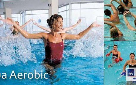 Aqua aerobic - účinná a zábavná forma odstraňování tukových polštářků a formování Vaší postavy. Vytvarujte během jara svou postavu a využijte nabídku pololetního kurzu této formy pohybu. Sleva 40%.