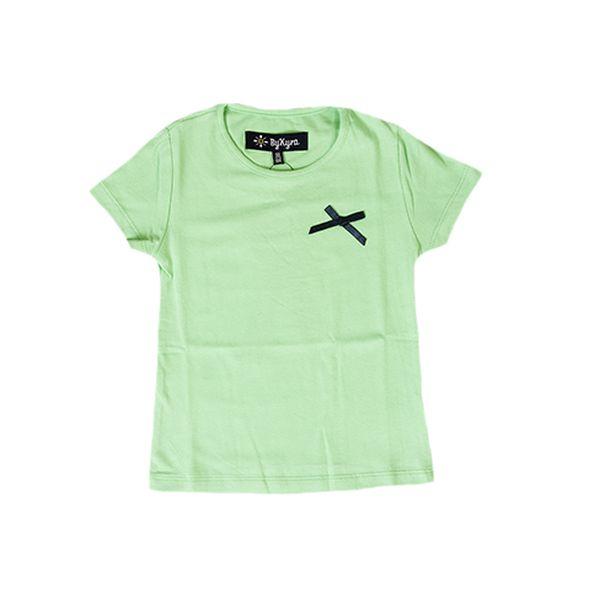 Zelené triko s mašlí od ByKyra