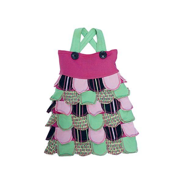 Veselé barevné volánkové šaty