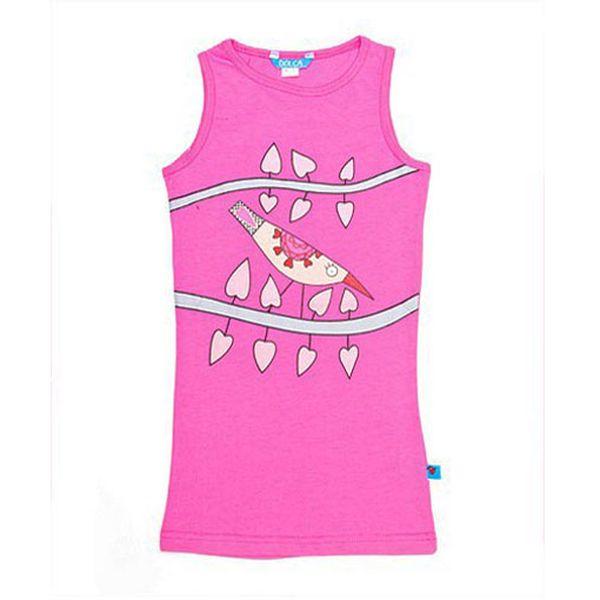 Veselé růžové tričko Ptáček