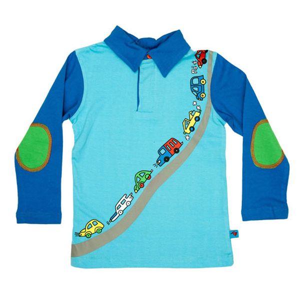 Parádní modré tričko s autíčky