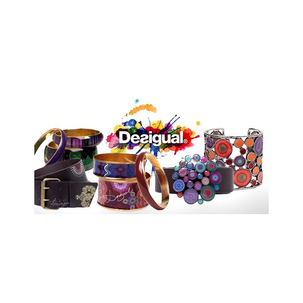"""Originální pásky nebo náramky DESIGUAL! Pořiďte si trendy stylové doplňky za zvýhodněné ceny již od 659 Kč! Známá značka Desigual je synonymem pro jedinečnost barev a hravost! """"Desigual se liší!"""" Doručení po Praze zdarma!"""