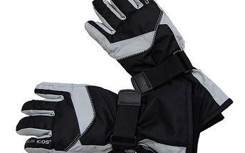 Černé rukavice na lyže