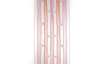 Dekorační záclona/závěs pruhy