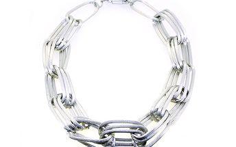 Stříbrný řetěz vícevrstvý