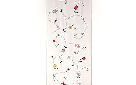 Dekorační záclona/závěs květinky