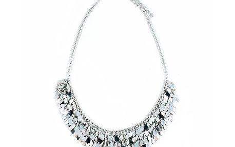 Sříbrný náhrdelník s lístky
