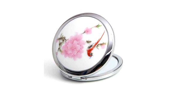 Kapesní zrcátko s designem květin a poštovné ZDARMA! - 3007518