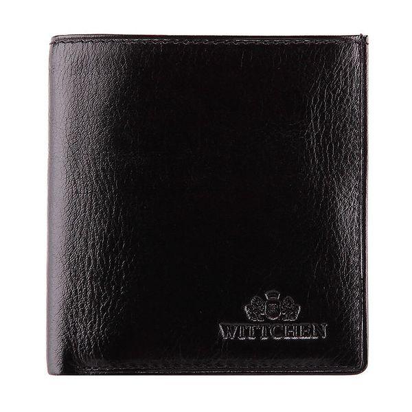 Dámská černá rozkládací peněženka z telecí kůže Wittchen