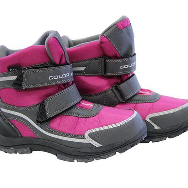 Dětské růžové kotníkové boty