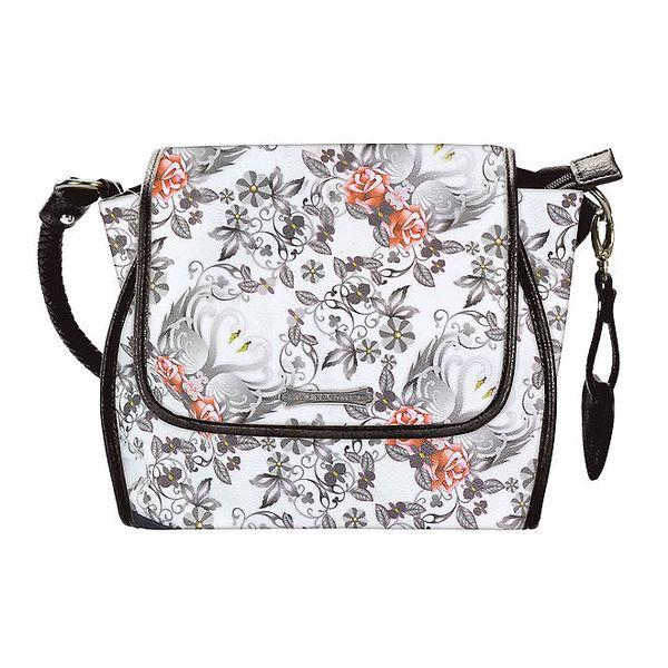 Dámská bílá kabelka s černými prvky Catalina Estrada